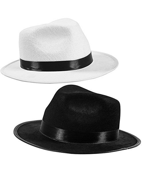 17e849fd196ea Accesorio De Disfraz De Sombrero De Gángster Fedora Negro - S ...
