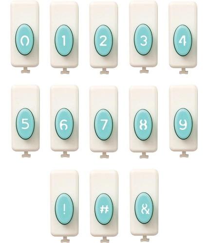 accesorio de números para word punch board