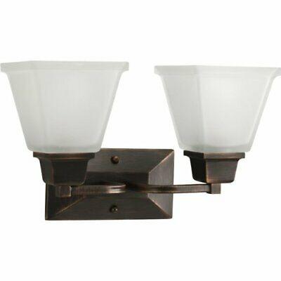accesorio de tocador de bronce veneciano de 2 luces de nort