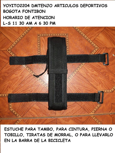 accesorio estuche para tambo,baston retractil bicicleta daga