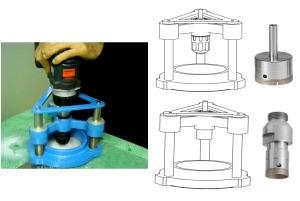 accesorio para taladro manual para vidrio herralum k-star