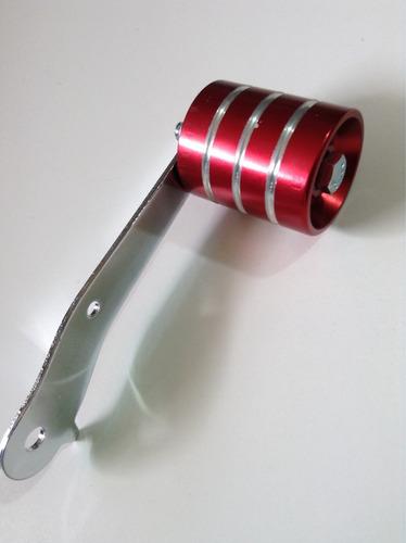 accesorio pedal roller aluminio ancho rojo vocho
