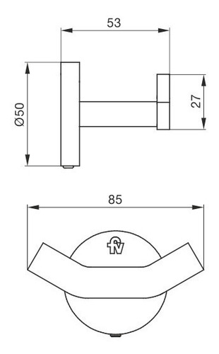 accesorio percha fv triades 0166/c3