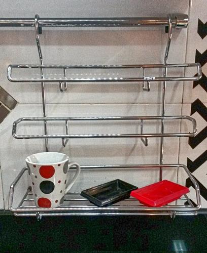 Accesorio porta rollos de cocina colgante cromado u s 26 - Accesorio de cocina ...