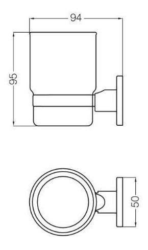 accesorio portavaso/cepillos arizona 169/b1 cromo fv
