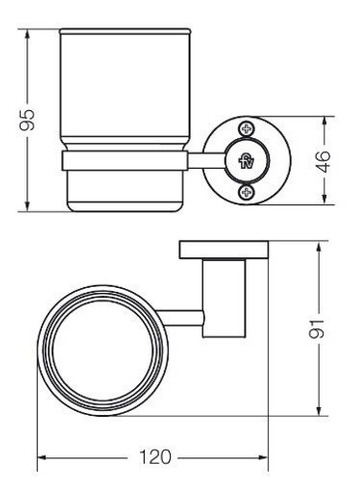 accesorio portavaso/cepillos california 169/17 cromo fv
