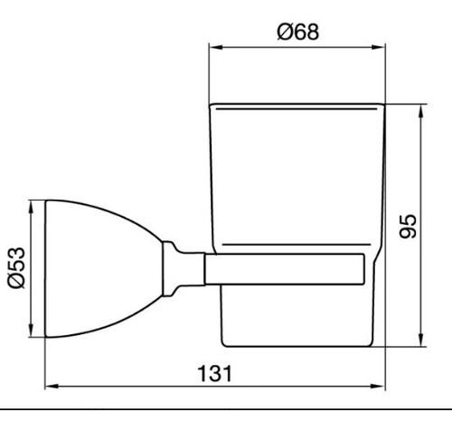accesorio portavaso/cepillos margot 169/62 cromo fv