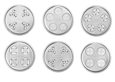 accesorio prensa de pasta 6 tipos para batidoras kitchenaid