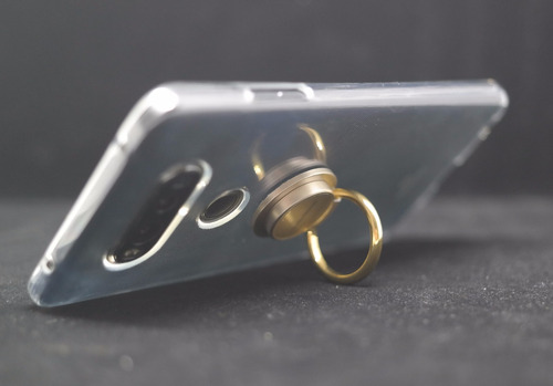 accesorio ring anillo kickstand goospery negro/dorado