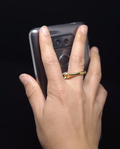 accesorio ring anillo kickstand goospery negro/plata