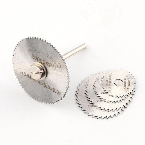 accesorio sierra mini taladro esmeril jgo 6 piezas mototool