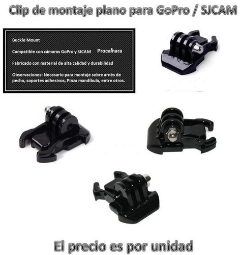 accesorio soporte hebilla hook clip montaje p/ gopro go pro