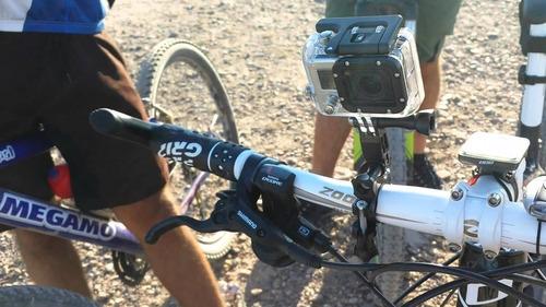 accesorio soporte manubrio gopro caño moto bicicleta go pro