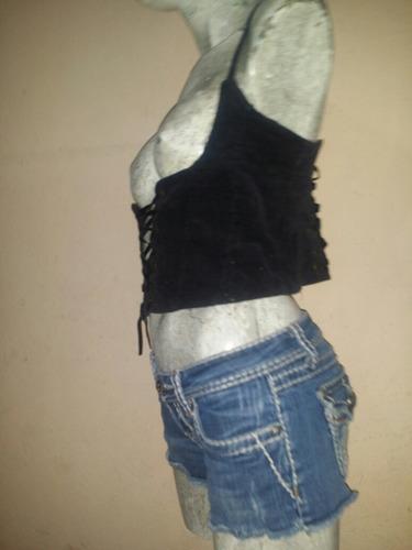 accesorio tipo cinturilla corset de pana