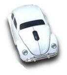 accesorio volkswagen mouse inalambrico blanco