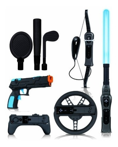 accesorio wii wii action pack plus black