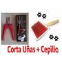 Combo - Corta Uñas Y Cepillo Para Mascotas Gatos Y Perros