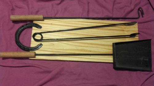 accesorios asador kit parrilla herramientas tabla asado