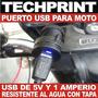 Puerto Usb Para Auto Moto Bicimoto Cuatrimoto 100% Hermetico