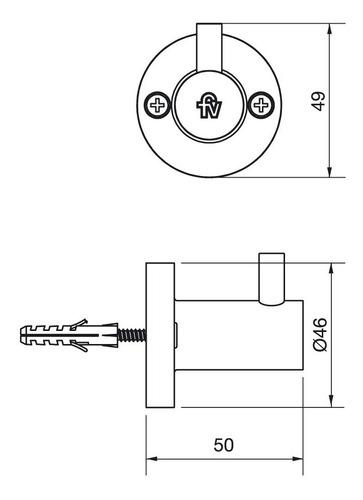accesorios baño percha fv arizona 0166/b1 cromo