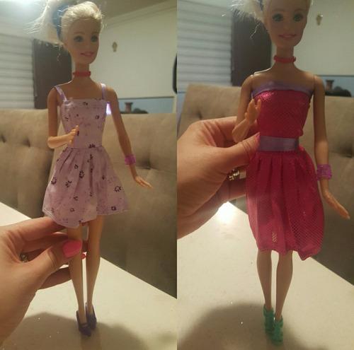 accesorios barbie 50 zapatos ó set 10 vestuarios + 10 pares