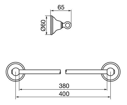 accesorios barral baño fv newport cromo 0164/b2