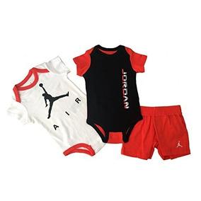 0ba8f1658 Nike Jordan Shorts And Bodysuit Infant 3 Pcs Layette Set