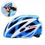 Casco Azul Para El Ciclismo Y El Blanco