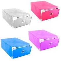 Pack De 16 Cajas Organizadoras Para Zapatos De Colores