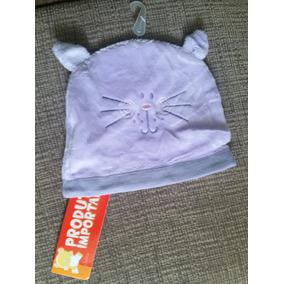 299328db4115a Gorro   Touca Infantil Roxo Lilás Gato Gatinha Cat E Orelhas