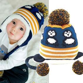 e95046398feec Touca Bebê Infantil Pinguim Inverno Outono Quente Forrada