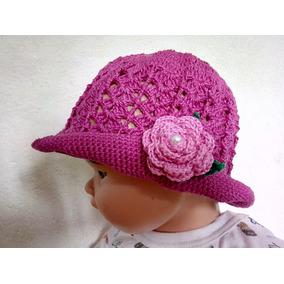 209ca92b03bdb Touca Bebê Com Flor Grande Croche no Mercado Livre Brasil