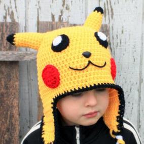 281b06eed0b0c Touca Croche Pikachu - Pokemon - Adulto Ou Bebê - Jennycrafs