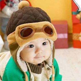 e803748d46fe8 Touca Aviador Inverno Menina Menino Gorro Criança Bebês