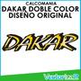 Calcomania Mitsubishi Montero Dakar Doble Color Diseño Orig