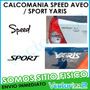 Calcomania Speed Aveo / Sport Yaris Marca 3m Garantizada!!