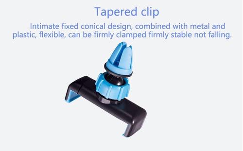 accesorios carro holder soporte celular carro negro y azul