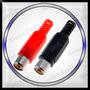 Conectores Jack Rca Plastico Aereo (hembra) 2 Unidades