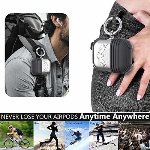 accesorios de airpods halleast juego de fundas de metal estu