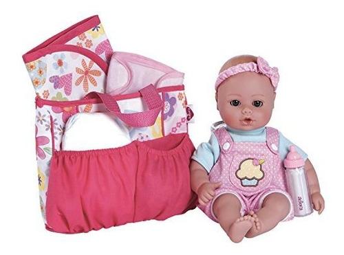 accesorios de la bolsa de pañales adora baby doll con 5 piez