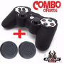 Combo Forro Protector + Gomas Playstation 3 Ps3 Ps2 Neg/azul