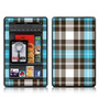 Turquoise Plaid Design Protective Decal Skin Sticker (matte