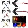 2 X Flecha Indicador De Cruce 14-smd Led Rojo Espejos