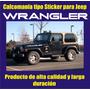 Calcomania Tipo Sticker Para Jeep Wrangler Laterales Capot