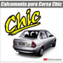 Calcomania Sticker Emblema De Corsa Chic