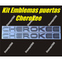 Kit De Emblemas Para Puertas De Jeep Cherokee