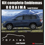 Kit Calcomanias Sticker Emblemas Toyota Roraima Land Cruiser