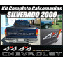 Kit Calcomanias Stikers Silverado 2000 Completas