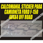 Kit 2 Calcomanias Emblema De 4x4x4 Sticker F-150 Fortaleza