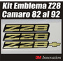 Kit Emblema Z28 Camaro 82 Al 92 Marca 3m
